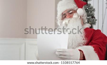 Noel baba oturma büro yazı mektup çocuk Stok fotoğraf © IvanDubovik