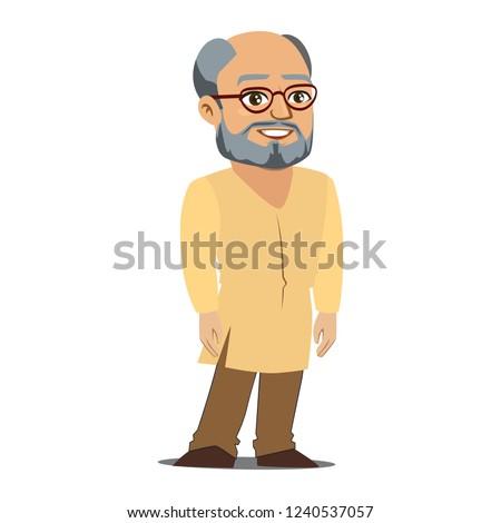 Indian stary wektora starszy osoby Zdjęcia stock © pikepicture
