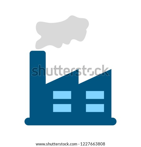 power plant icon factory industrial building power plant vector illustration isolated on white bac stock photo © kyryloff