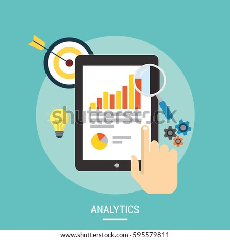 flat isometric vector concept of online survey tool customer review stock photo © tarikvision