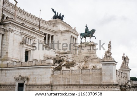 Equestrian statue of Vittorio Emanuele II on Vittoriano (Altar o Stock photo © boggy