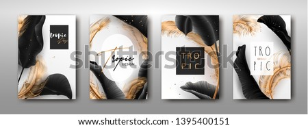 Stock photo: Set of vector templates. Marbling. Marble texture. Artistic abstract colorful background. Splash of