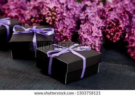 Zwarte klein paars lint natuurlijke Stockfoto © Illia