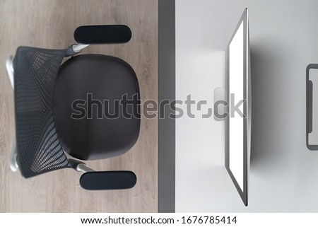 confortável · local · de · trabalho · laptop · branco · feminino · rosas - foto stock © artjazz