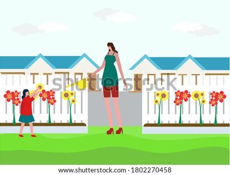 jonge · vrouw · voorjaar · zomer · tuin · aantrekkelijk - stockfoto © deandrobot
