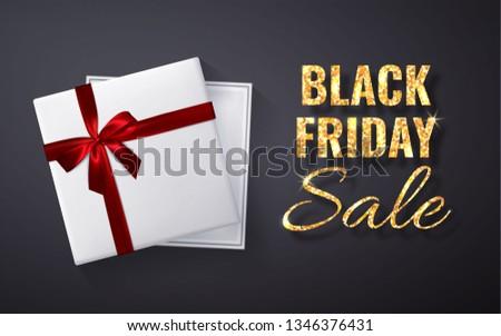 Сток-фото: черная · пятница · продажи · блеск · красный · шкатулке