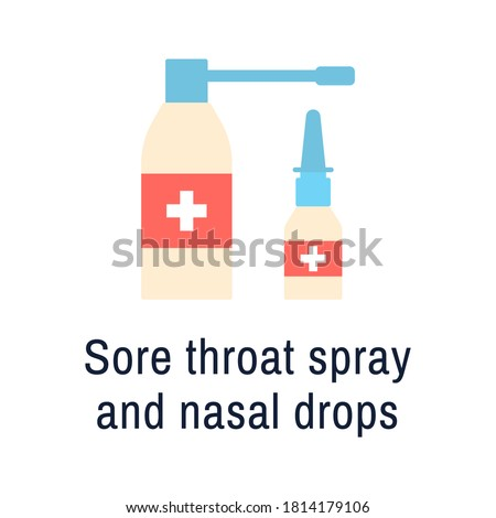 Medical Container Vector. Spray Runny Nose. White Plastic Bottle Mockup. Branding Design. Health. Wh Stock photo © pikepicture