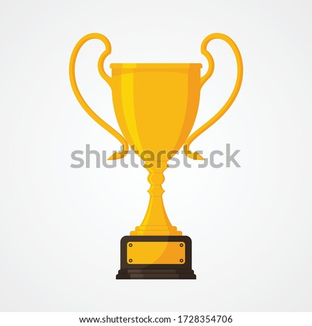 metallic trophy cup vector game medal celebration ceremony competition symbol gilded metal objec stock photo © pikepicture