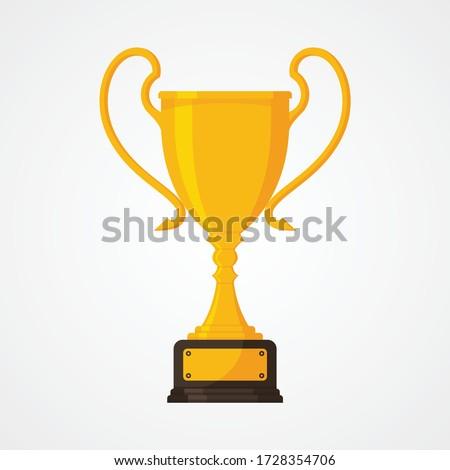 Fémes trófea csésze vektor játék érem Stock fotó © pikepicture