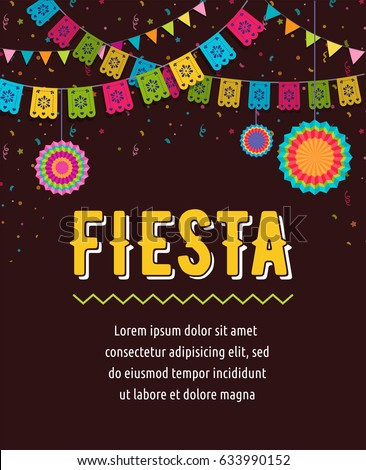 mexican · party · vettore · modello · design · fiesta - foto d'archivio © redkoala