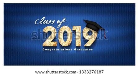 Félicitations diplômés classe carte de vœux attribution Photo stock © ikopylov