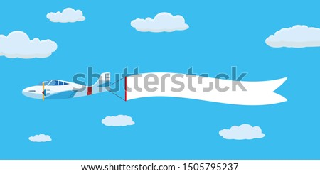 Cartoon retro airplane with banner isolated on white background Stock photo © mechanik