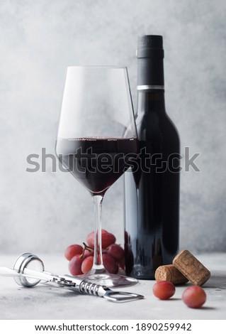 Mini garrafas vinho tinto escuro uvas Foto stock © DenisMArt