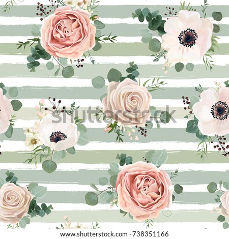 delicate pink roses vector watercolor background elegance flowe stock photo © frimufilms