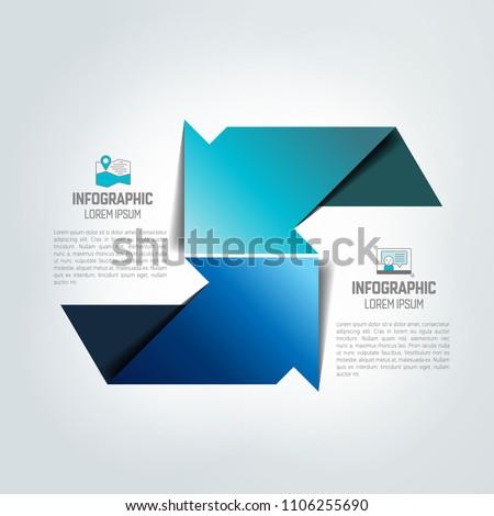 Twee pijlen verschillend richting grafiek Stockfoto © kyryloff