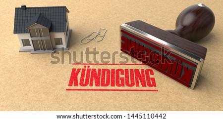 House Stamp Kuendigung Stock photo © limbi007