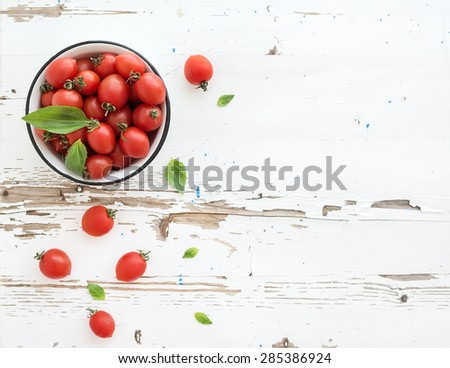 Foto stock: Topo · ver · fresco · orgânico · tomates · cereja · monte