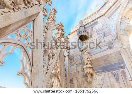 márvány · építészet · felső · tető · gótikus · katedrális - stock fotó © boggy
