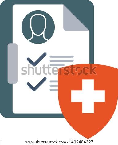 Médicos seguro icono clínico tabla escudo Foto stock © Winner