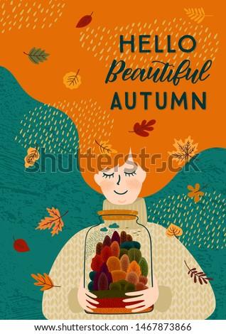 любви осень Осенний сезон баннер осень листьев Сток-фото © ikopylov
