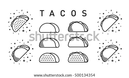 Set of mexican tacos Stock photo © karandaev