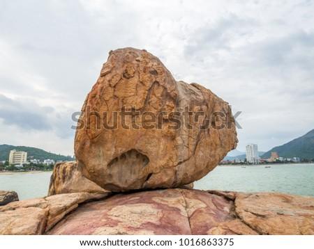 Ogród kamień utwór łapa smoka popularny Zdjęcia stock © galitskaya
