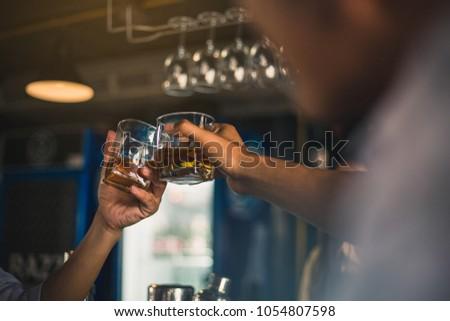 Gruppo amici bevande whiskey night club lavoro Foto d'archivio © ruslanshramko