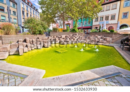 bamberg colorful green fountain pond in historic town of bamber stock photo © xbrchx