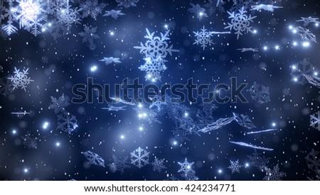 Noël flocons de neige relevant neige hiver floue Photo stock © SwillSkill