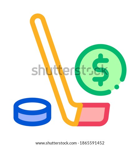 Hockey Stick with Puck Betting And Gambling Icon Vector Illustration Stock photo © pikepicture