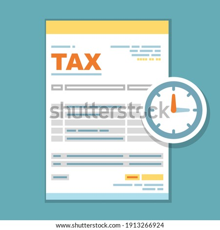 Tax payment time form icon - reminder of state government taxati Stock photo © gomixer