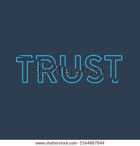 Zaufania liniowy słowo typografii czas odizolowany Zdjęcia stock © kyryloff