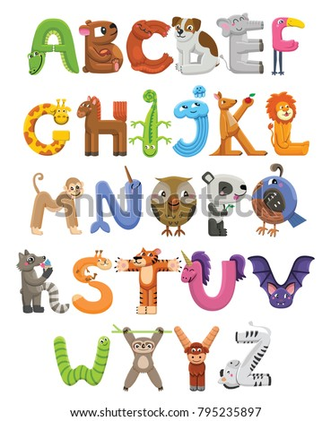 English alphabet letter for children. English language abc. Owl clown holds glass of juice Stock photo © orensila