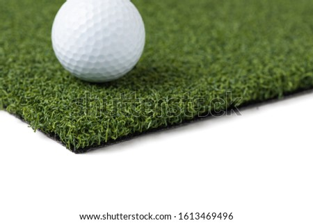 Balle de golf artificielle gazon herbe Photo stock © feverpitch