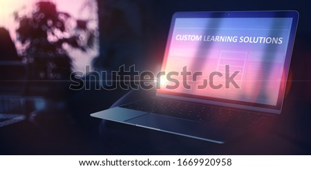 Search for Self-expression Concept. Custom Learning on Notebook. 3D. Stock photo © tashatuvango