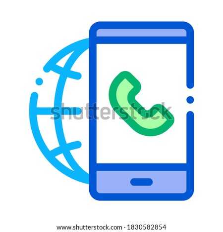 Voip smartphone internet verbinding icon vector Stockfoto © pikepicture