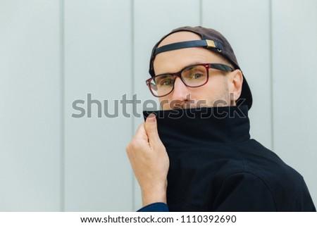 Horizontal tiro caucasiano atraente masculino atrás Foto stock © vkstudio