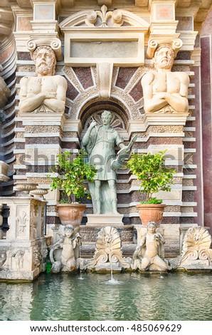 Détail villa jardins célèbre italien parc Photo stock © Zhukow