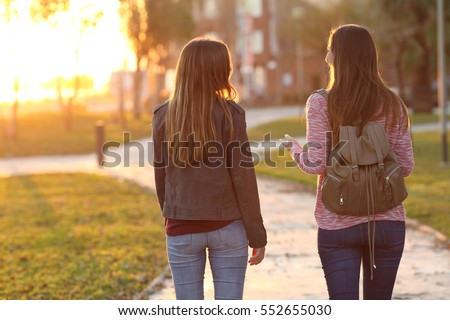 Teenagers, Couple Spend Time Together, Urban Park Stock photo © robuart