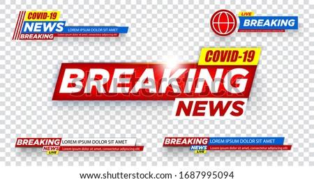 coronavirus covid-19 latest news broadcast concept background Stock photo © SArts