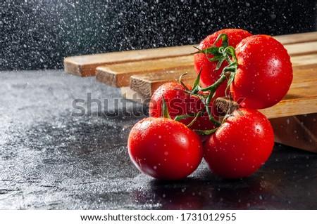 おいしい 赤 新鮮な トマト 水滴 ストックフォト © vkstudio
