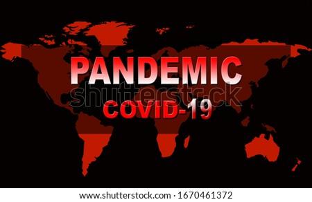 worldwide coronavirus covid-19 pandemic outbreak banner design Stock photo © SArts