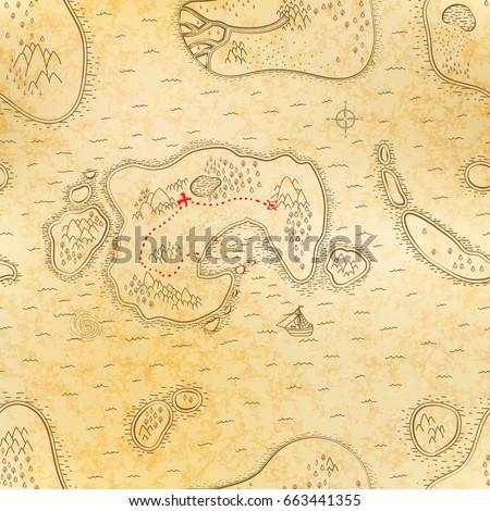 Starożytnych pirackich Pokaż starych papieru Zdjęcia stock © evgeny89