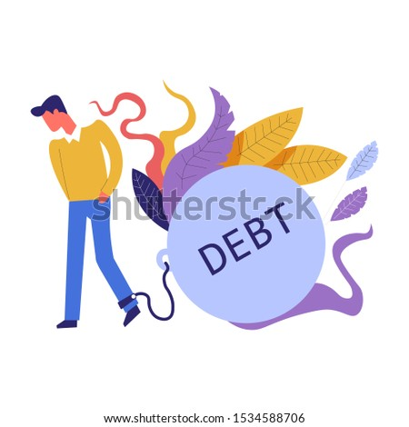 Debt burden abstract concept vector illustration. Stock photo © RAStudio