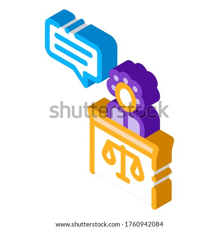 Female Witness Law And Judgement isometric icon vector illustration Stock photo © pikepicture