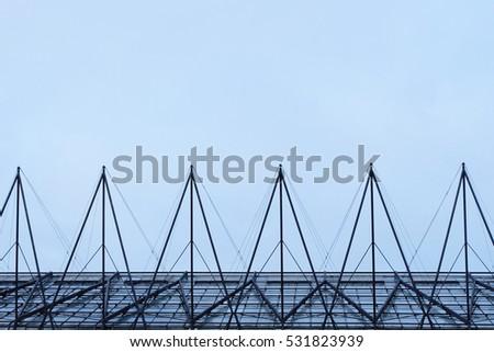 Szimmetrikus háromszög tető acél fények árnyékok Stock fotó © fisfra