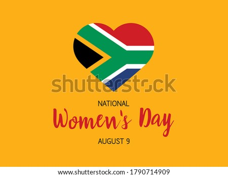 national flag of south africa in heart shape with additional det Stock photo © experimental