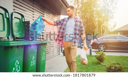 garbage man stock photo © andreasberheide