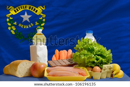 complete waved flag of american state of nevada for background   stock photo © vepar5