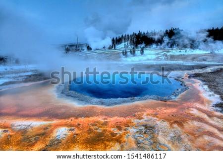 crested pool geyser yellowstone national park upper geyser bas stock photo © bertl123